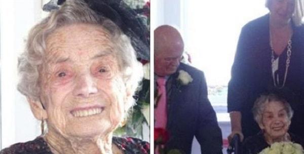 La sposa ha 93 anni, lui 23 e la strana coppia dice 'sì'