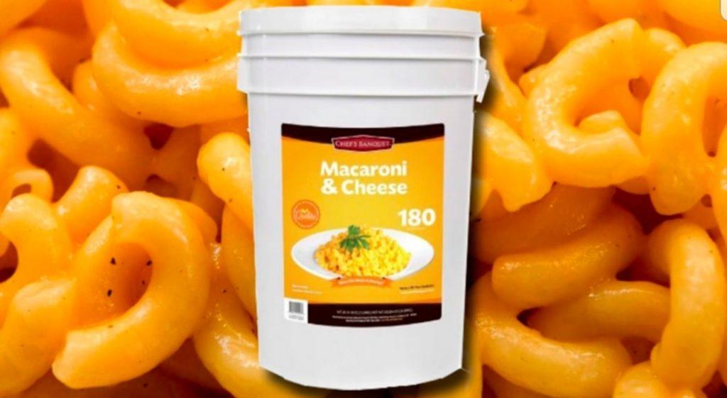 Pasta al formaggio precotta: il secchio da 12 kg che scade tra 20 anni
