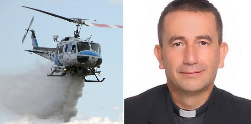 """""""La città è indemoniata"""", vescovo versa l'acqua santa da un'elicottero"""