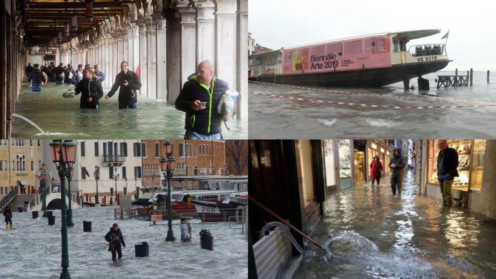 Venezia affonda, alle 23.35 previsto altro picco altissimo di marea