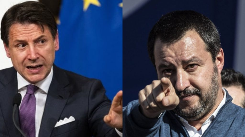 """Matteo Salvini a valanga contro Conte: """"Arrogante e uomo da poco, si vergogni"""""""