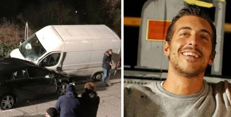 Poliziotto va sul luogo dell'incidente, trova il figlio 30enne morto nell'auto