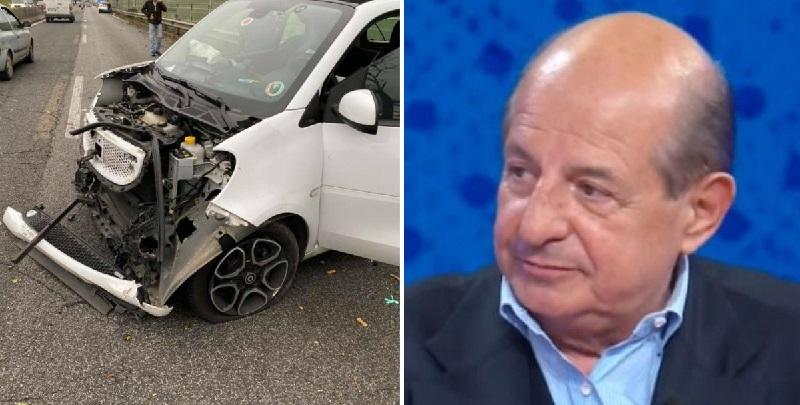 """Magalli, brutto incidente stradale: """"Smart distrutta, è stato miracolato"""""""