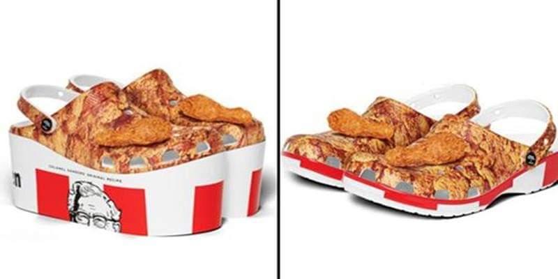 """KFC e Crocs fanno squadra per creare zoccoli a tema: """"con coscette di pollo fritto profumate"""""""