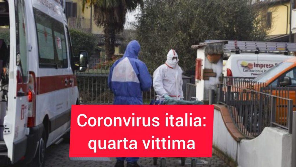 Coronavirus, morto un uomo: è la quarta vittima in Italia