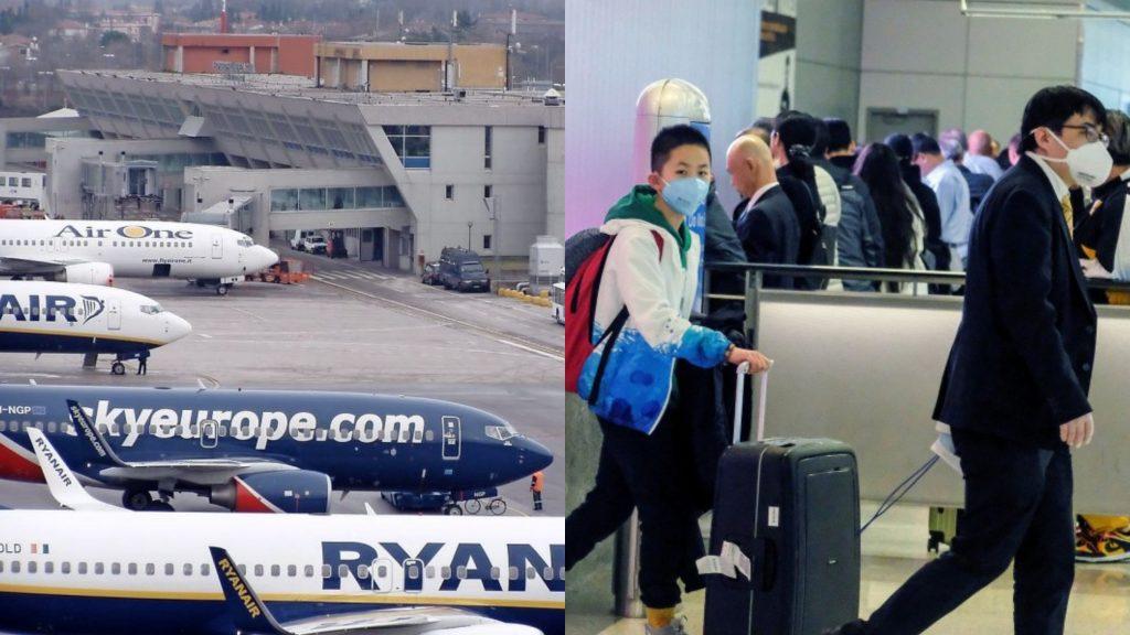 Coronavirus |  si cercano i 200 passeggeri di due voli diversi |  hanno viaggiato con due