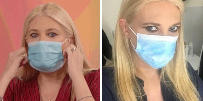 Eleonora Daniele, dopo le foto con la mascherina arriva il dietrofront: il suo messaggio