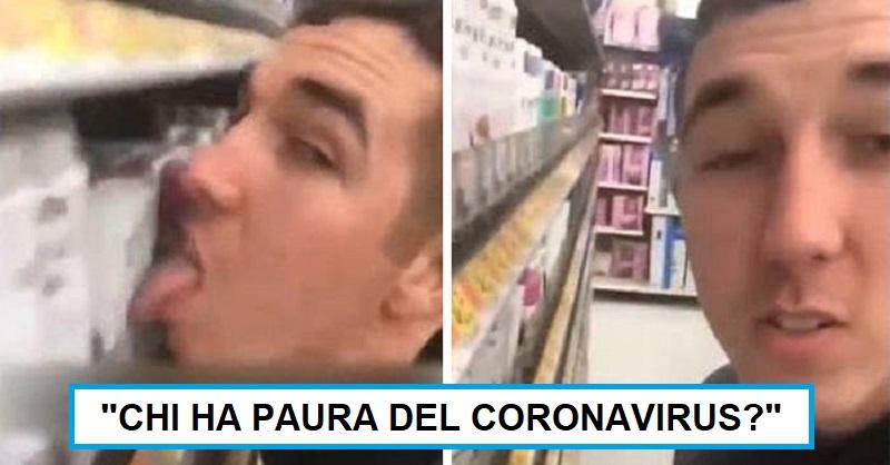 Si filma mentre lecca le merci del supermercato: arrestato 26enne (Video)