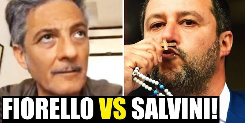"""Chiese aperte a Pasqua, Fiorello contro Salvini: """"Prega in b"""