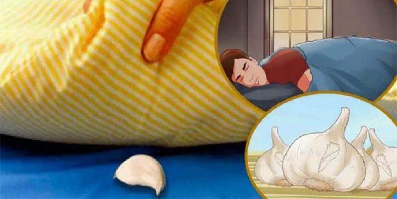 Uno spicchio d'aglio sotto il cuscino prima di dormire: 8 be