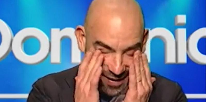 Bassetti scoppia in lacrime a Domenica In