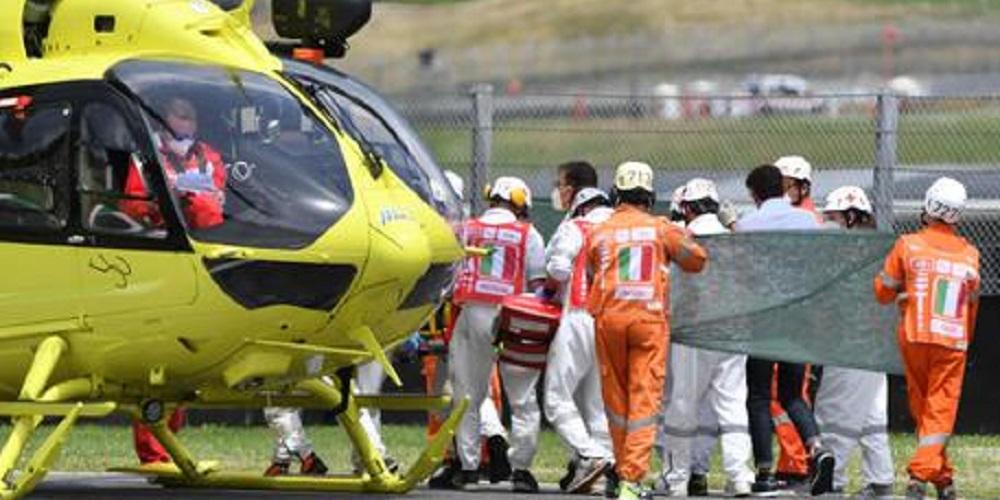 Drammatico incidente durante le qualifiche: il pilota è in gravi condizioni